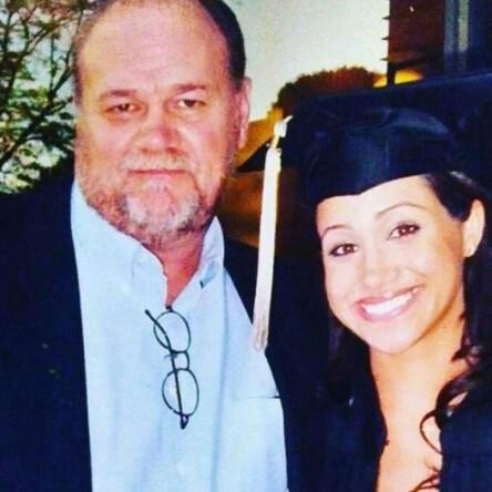 <strong>SKAPER OVERSKRIFTER:</strong> Thomas Markle (73), her med datteren før hun ble hertuginne, har fått tabloidblekket til å sprute det siste halvåret. Nå gjør han det igjen. Foto: NTB Scanpix