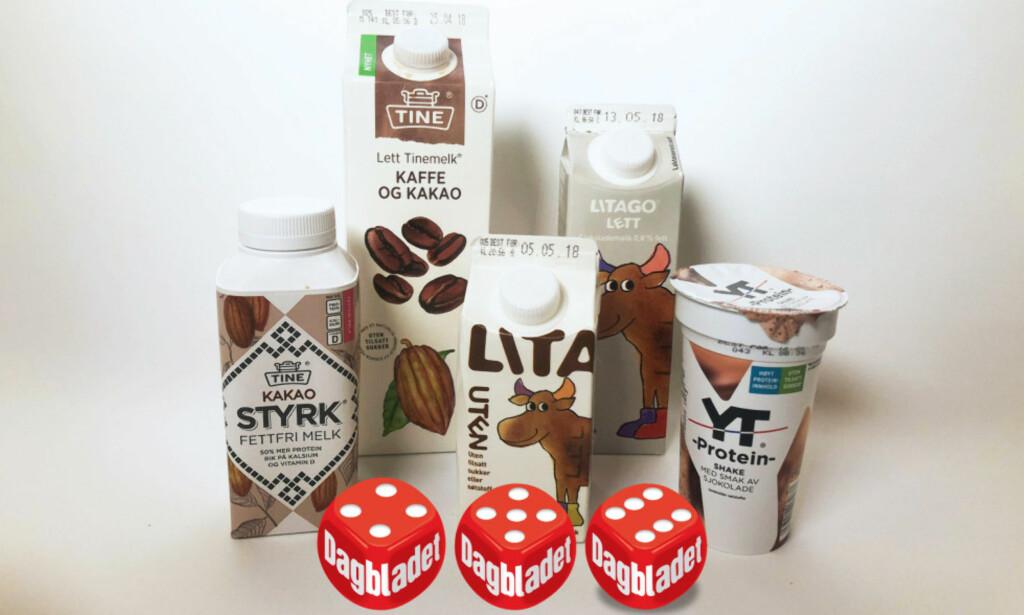 DEN SUNNESTE SJOKOLADEMELKEN: Èn av disse er vinneren i årets test av sjokolademelk. Foto: Jenny Mina Rødahl