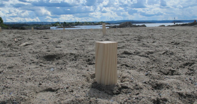 SPILL: Kubb kan spilles i hagen, på stranda eller hvor som helst.