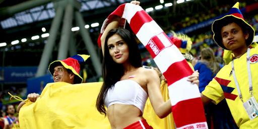 image: Raser mot bilder av kvinnelige VM-supportere