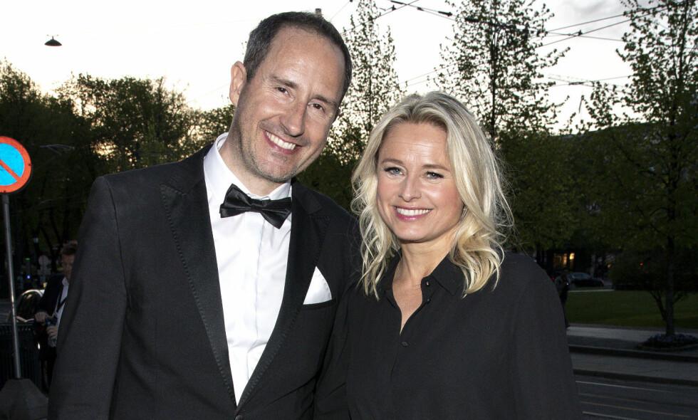 KLAR FOR PARKETTEN: Tv-profil Harald Rønneberg (44), her med kona Sølvi Haugland tidligere i år, er etter det Se og Hør kjenner til blant kjendisene som dukker opp i høstens «Skal vi danse». Foto: Andreas Fadum / Se og Hør