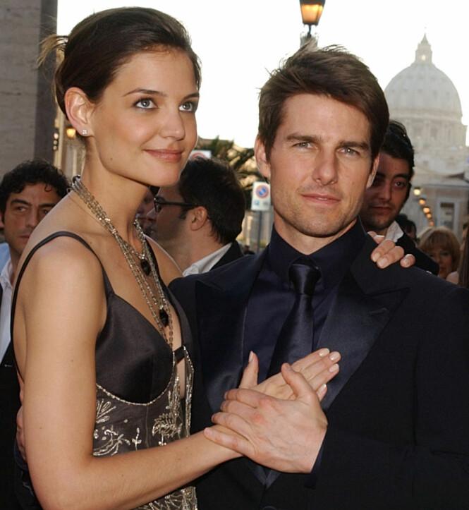 <strong>TREDJE KONA:</strong> Katie Holmes og Tom Cruise var gift i fem og et halvt år før de skilte lag. Her sammen i 2005. Foto: NTB Scanpix