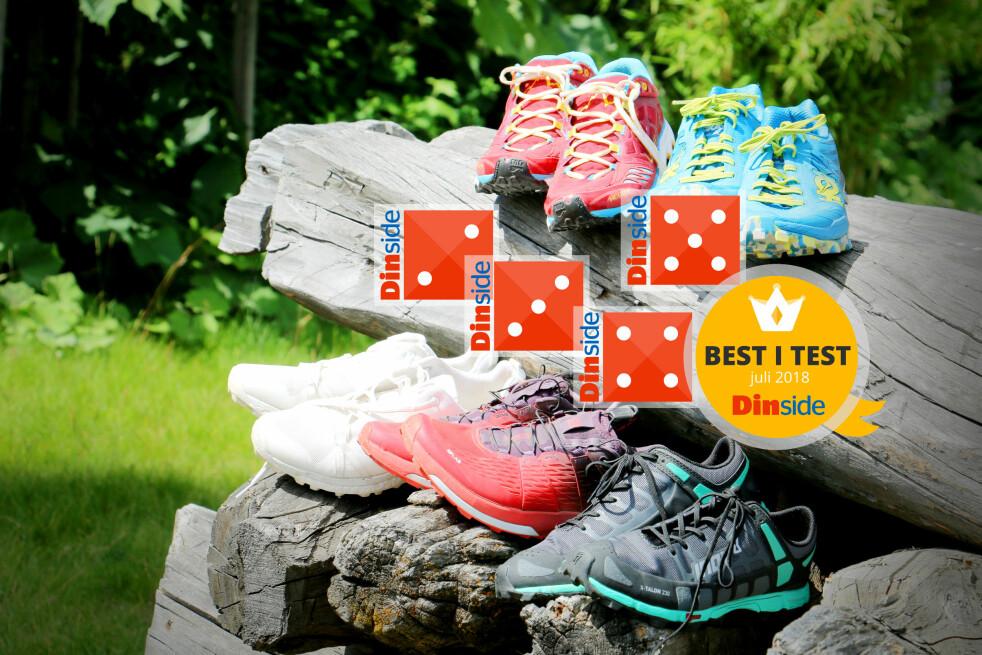 <strong>BESTE TERRENGSKO:</strong> Fra skoene som gjør at du bare vil fortsette å løpe etter endt tur, til de som stjeler enhver løpeglede. Vi har testet terrengsko fra Hoka, Adidas, La Sportiva, Salomon og Inov-8 og kan gi deg tips til løpeskoene vi mener er de beste for terrenget. Foto: Ole Petter Baugerød Stokke