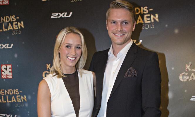 PENT PAR: Katarina Flatland og Harald Dobloug sammen på rød løper i forbindelse med Se og Hørs kjendisgalla i 2013. Foto: Thomas Winje Øijord / NTB scanpix
