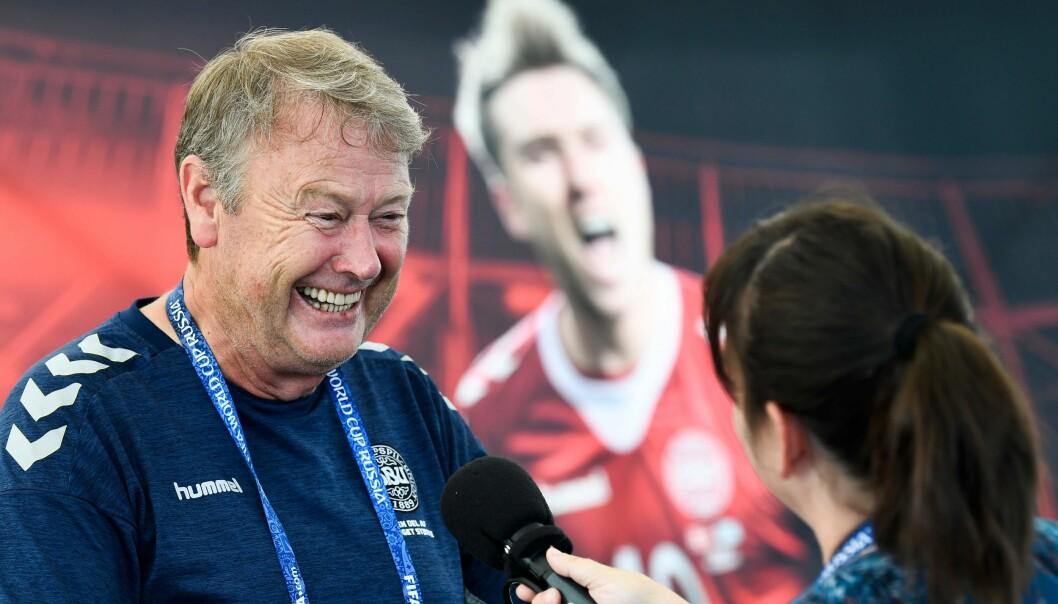 <strong>MØTER KROATIA:</strong> Åge Hareide og Danmark møter Kroatia i åttedelsfinalen i VM. Foto: Jonathan Nackstrand / AFP Photo / NTB Scanpix