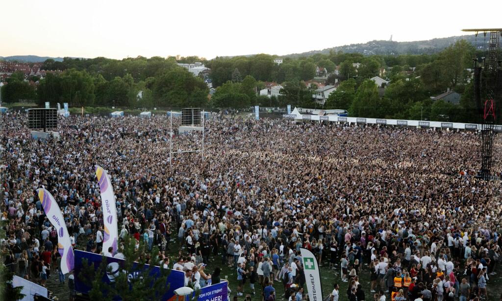 REKORD: Eminem-konserten på Voldsløkka i Oslo er den største lukka konserten i Norge noensinne. Foto: Dagbladet