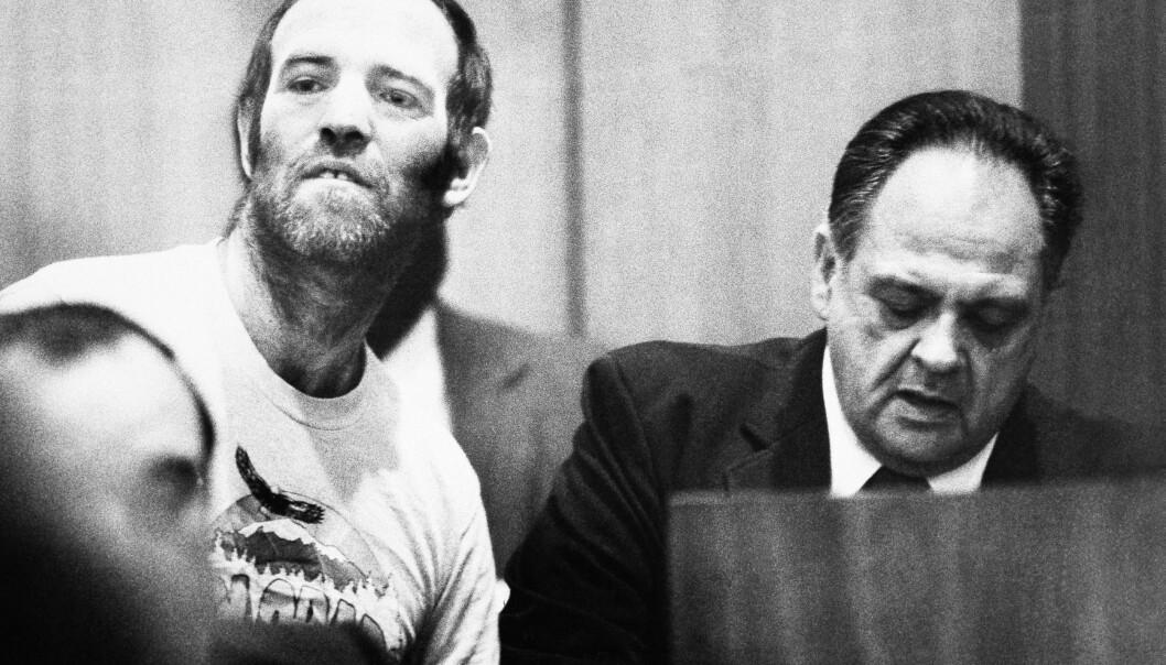DRAPSMANN: Ottis Elwood Toole hadde kjent seg skyldig i flere rystende drapssaker. Dette bildet er tatt under en rettssak i Jacksonville i 1984. På dette tidspunktet var han siktet i ni andre drapssaker i tre stater. FOTO: NTB Scanpix