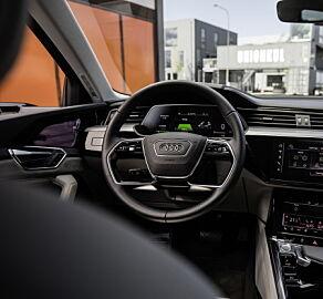image: Audis elbil er først ute med virtuelle speil