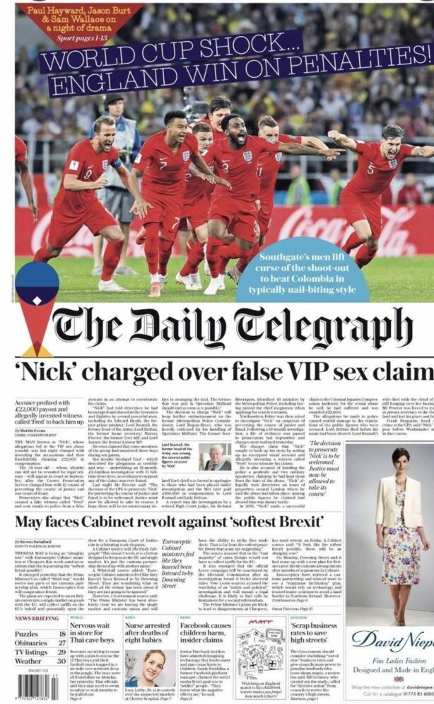 The Daily Telegraph i dag
