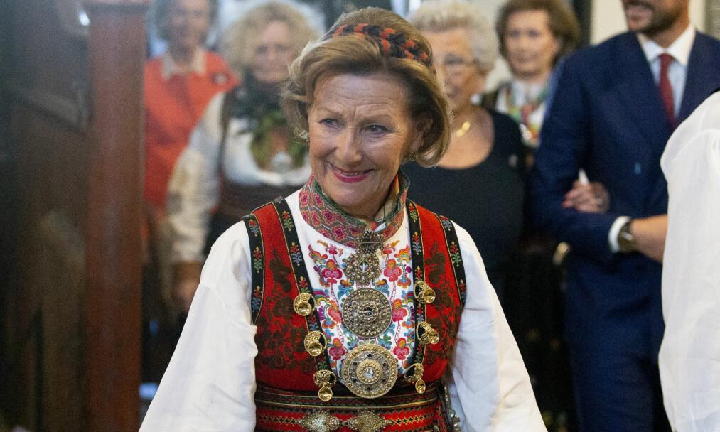 <strong>DRONNING SONJA HAR BURSDAG:</strong> Onsdag 4. juli fyller dronning Sonja 81 år. Kong Harald befinner seg imidlertid i utlandet på dagen. Foto: NTB Scanpix