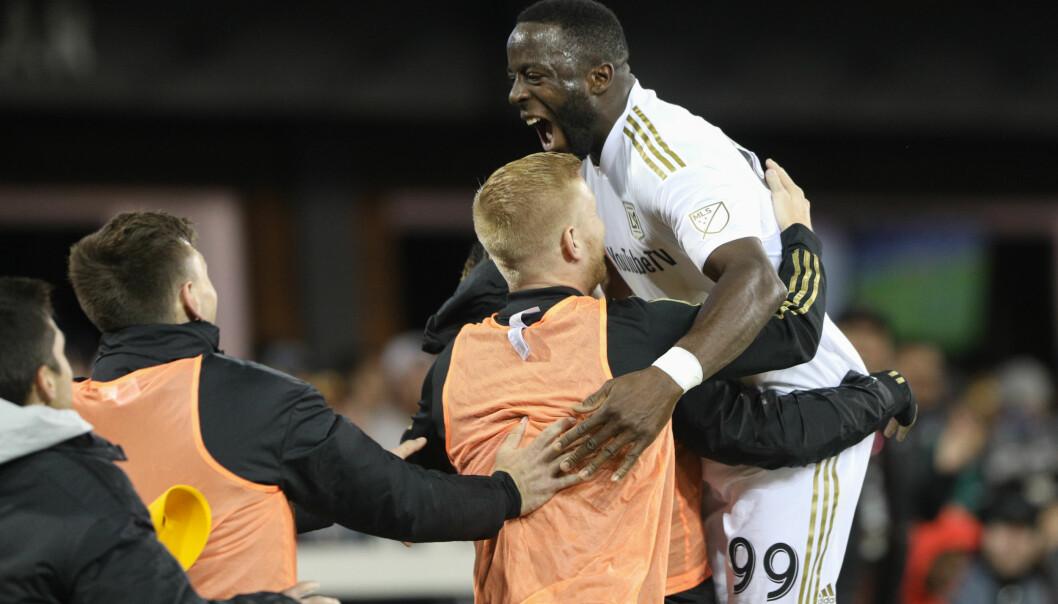 <strong>HERJER:</strong> Adama Diomande har hatt en god start på MLS-oppholdet. Foto: Maciek Gudrymowicz/ISI/REX/Shutterstock