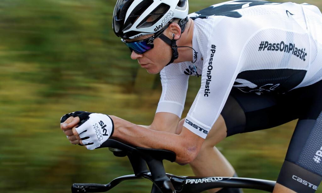 SYKLER TOUREN: Chris Froome, som har vunnet Tour de France fire ganger. Foto: REUTERS/Stephane Mahe