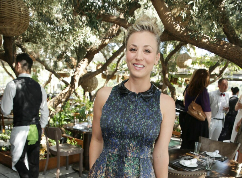 KALEY CUOCO: The Big Bang Theory-stjernen giftet seg med Karl Cook 30. juni. Foto: Scanpix