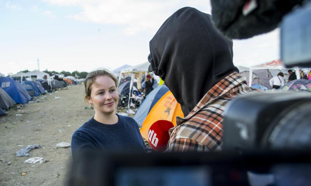 RUSER SEG: «Mikkel» (18) og kompisgjengen bruker kokain, MDMA og hasj på Roskildefestivalen. Han forteller at rusbruken har en negativ bieffekt: - Når du er ferdig med festivalen, er du helt ferdig. Foto: Ørjan Ryland / Dagbladet