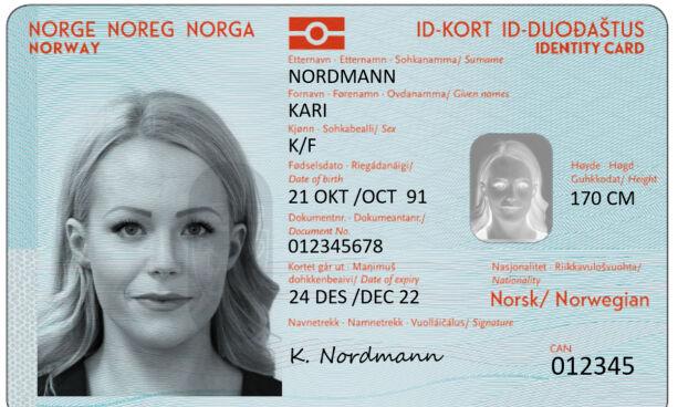 image: Slik blir det nye passet og id-kortet ditt