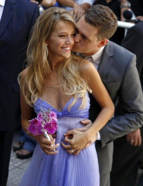 NYFORELSKET IGJEN: Her er paret avbildet under bryllupet sitt i 2011. Foto: NTB Scanpix