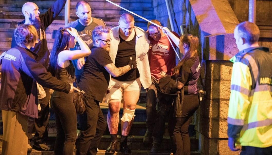 <strong>VERSTE SIDEN 2005:</strong> Terrorangrepet utenfor Manchester Arena, som drepte 22 og skadet 59 mennesker, er det dødeligste angrepet på britisk jord siden London-bombene i 2005. Foto: Joel Goodman/LNP/REX/Shutterstock/NTB Scanpix