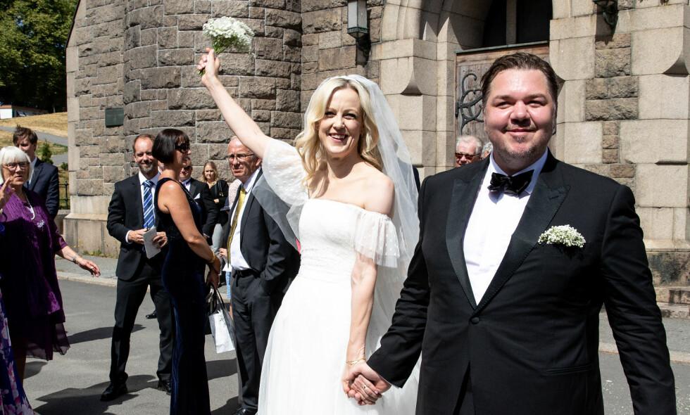 GIFT: Skuespillerne Marian Saastad Ottesen (42) og Nils Jørgen Kaalstad (39) er nå gift. Foto: Andreas Fadum / Se og Hør