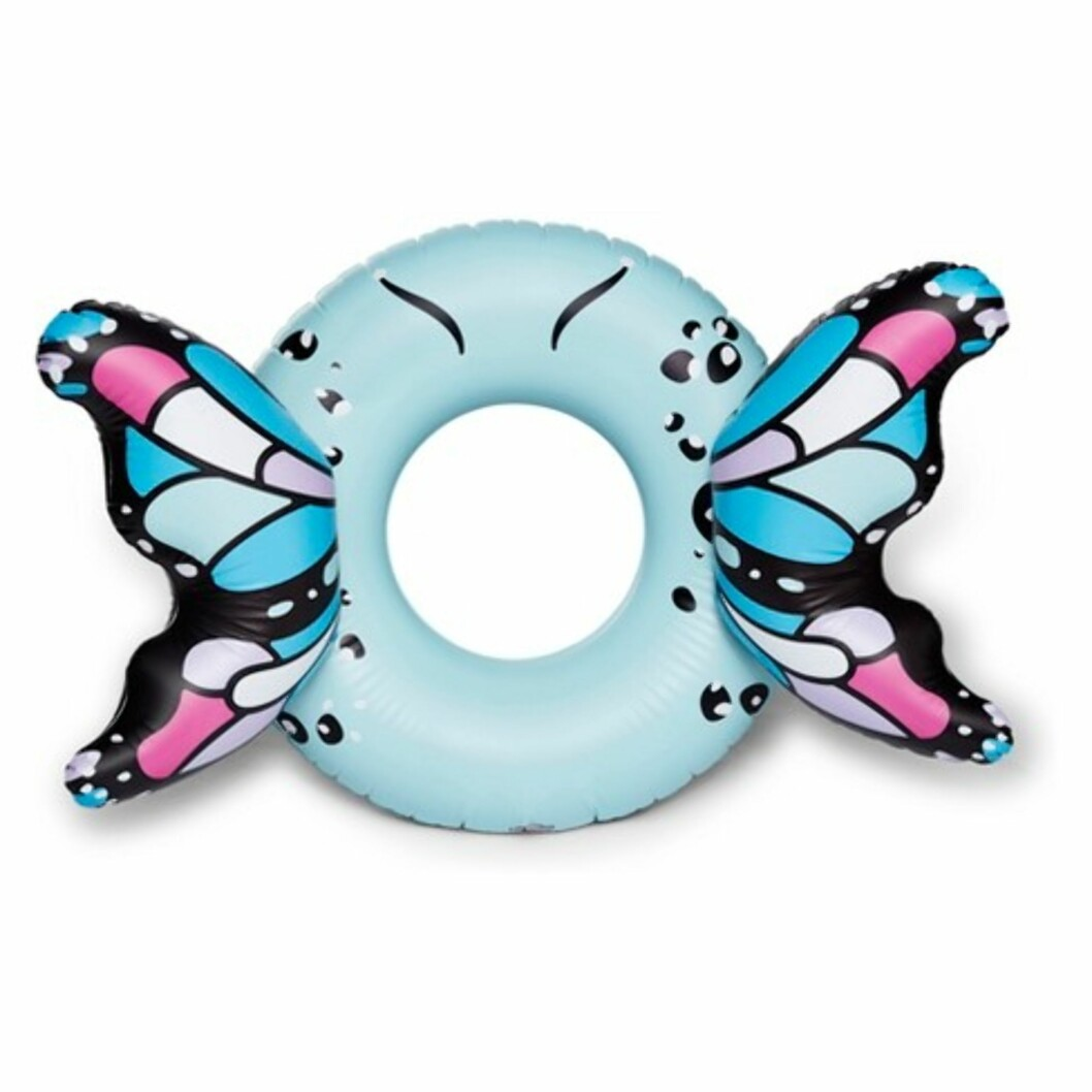 Sommerfugl-madrass |312,-| http://www.asos.com/big-mouth/big-mouth-butterfly-pool-float-inflatable/prd/9182473?clr=multi&SearchQuery=inflatable&gridcolumn=1&gridrow=2&gridsize=4&pge=1&pgesize=72&totalstyles=30