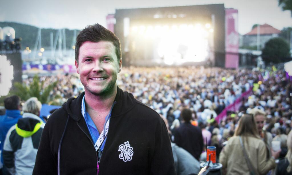 JUBLER: Festivalsjef Leif Fosselie er strålende fornøyd at neste års festival snart er utsolgt. Foto: Palmesus