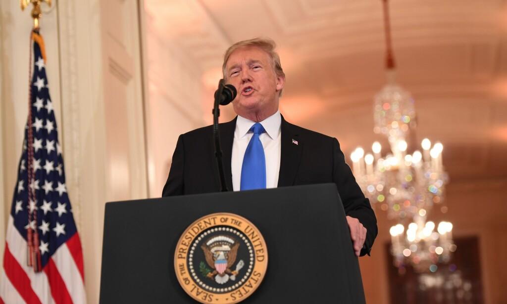 Nominasjon: I natt nominerte Donald Trump Brett Kavanaugh til ny høyesterettsdommer. Foto: NTB Scanpix
