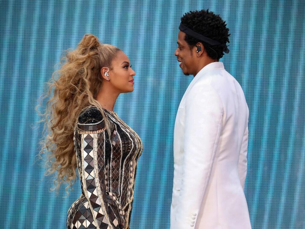 BEYONCÉ: Artisten plukket med seg danske klær på turné med ektemannen Jay-Z. FOTO: NTB Scanpix