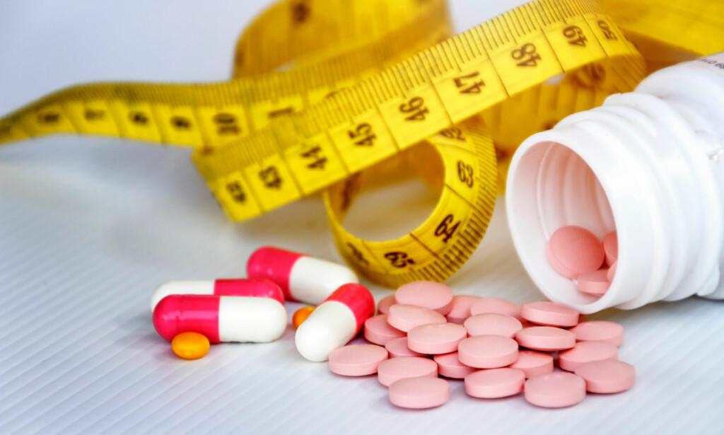 VEKTREDUKSJON: - Slankemidler kan være fin drahjelp for dem som trenger det, men det er hele tida en forutsetning at medikamentene kombineres med omlegging av kostholdet og økt fysisk aktivitet for å oppnå god effekt, sier klinisk ernæringsfysiolog Tine Sundfør. <br>Foto: Ropisme / Shutterstock / NTB Scanpix