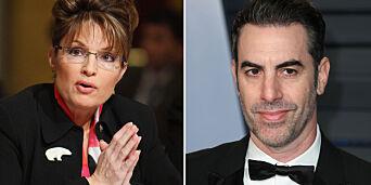 image: Trodde hun snakket med krigsveteran i rullestol. Ble rundlurt av «Borat»-stjerna