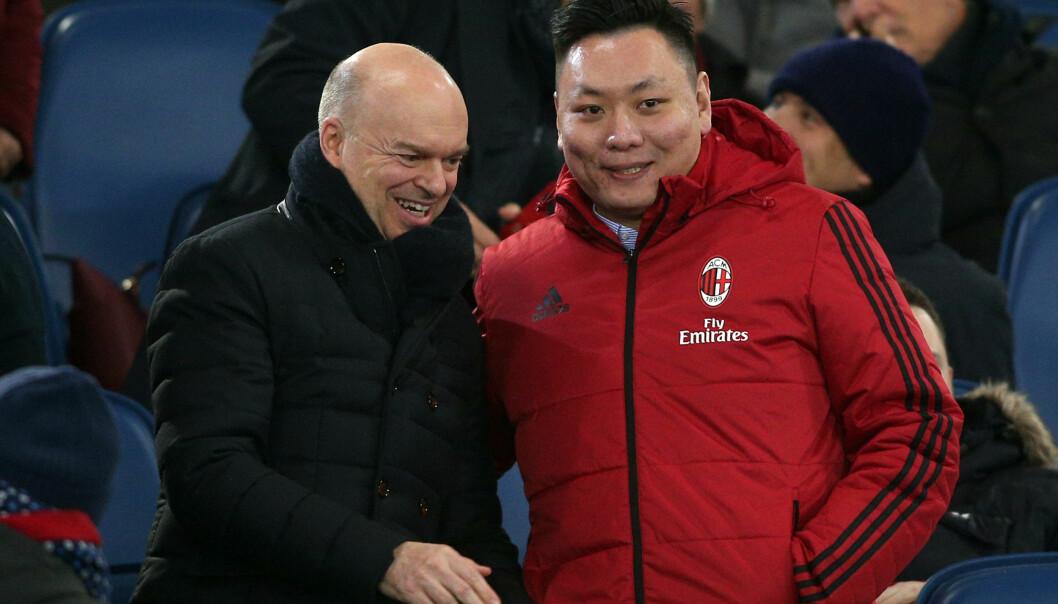 <strong>OVERGIR MILAN:</strong> Den kinesiske finansmannen Yonghong Li har ikke klart å betale ned avdrag på lånet han tok opp da han kjøpte Milan og nå har et hedgefond tatt over kontroll av klubben. Foto: NTB Scanpix