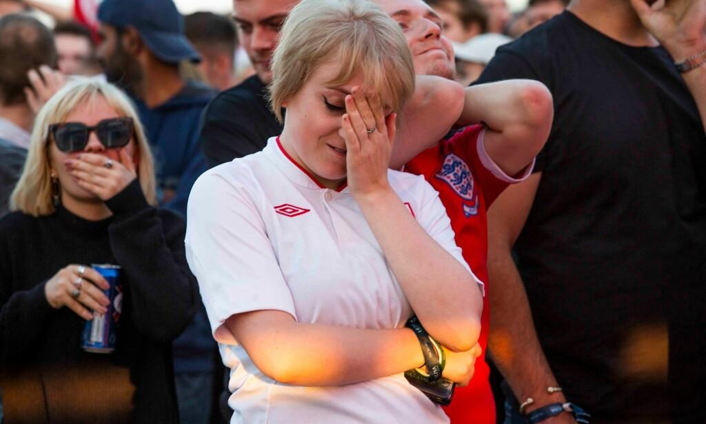 TÅRER?: Britene depper etter tapet i VM. Foto; Hugo Michiels/LNP/REX/Shutterstock (