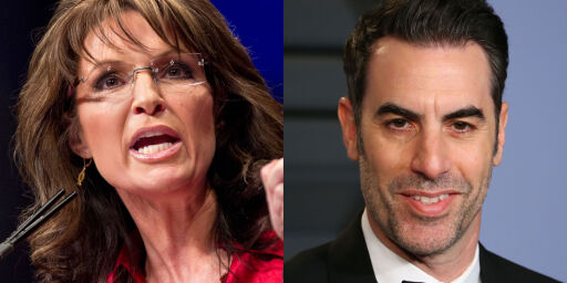 image: Forsvarer «Borat»-stjerna mot Palin: - Satt aldri i rullestol