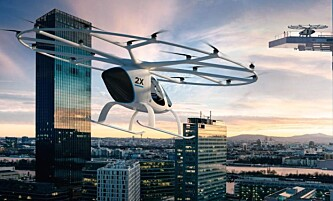<strong>FLYR SELV:</strong> Volocopter er selvflyvende og kan komme i kommersiell trafikk i løpet av tre år. Foto: Volocopter