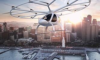 KOMMER SNART? Volocopter kan komme i kommersiell trafikk i løpet av tre år. Foto: Volocopter
