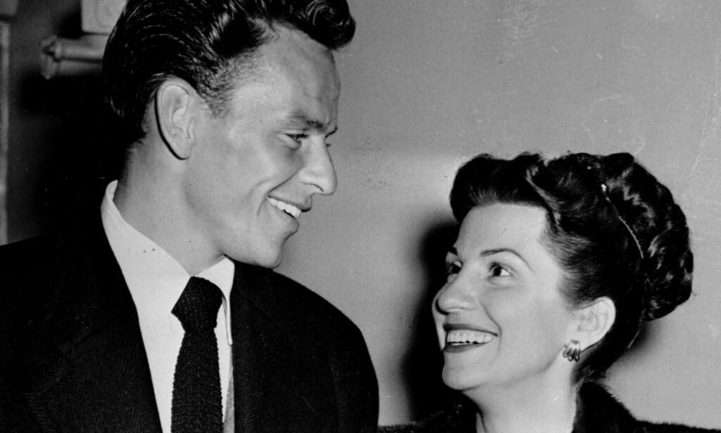 GIFT: Frank Sinatra og Nancy var gift fra 1939 til 1951. Her er paret avbildet i Hollywood i 1946. Foto: AP / NTB Scanpix