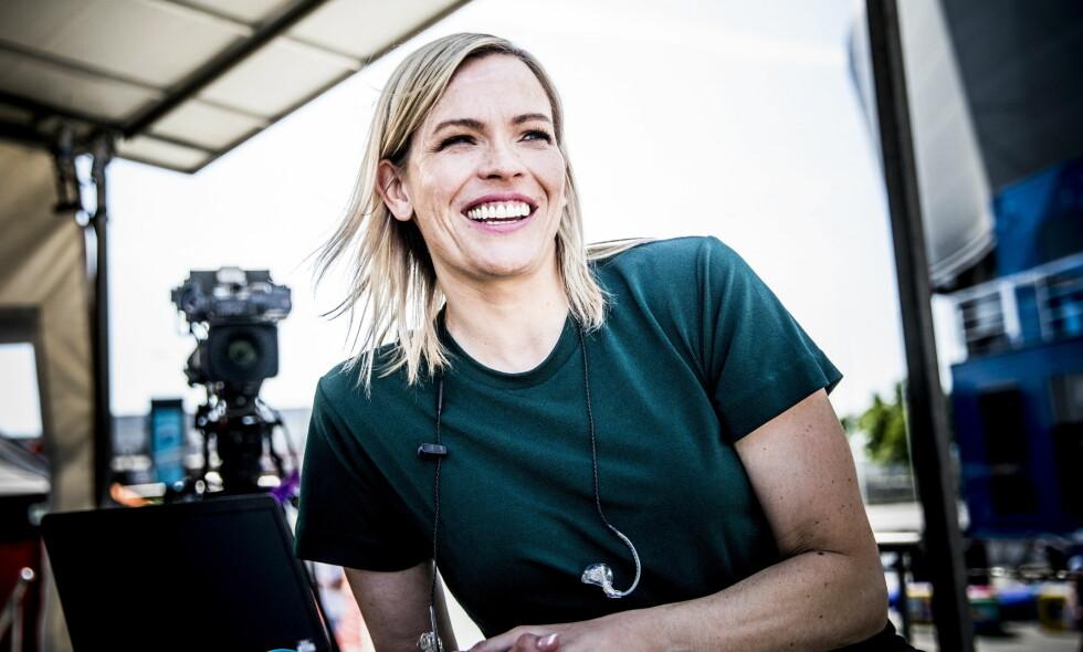 BLE MAMMA: NRK-profil Carina Olset har født en datter. Foto: Christian Roth Christensen / Dagbladet