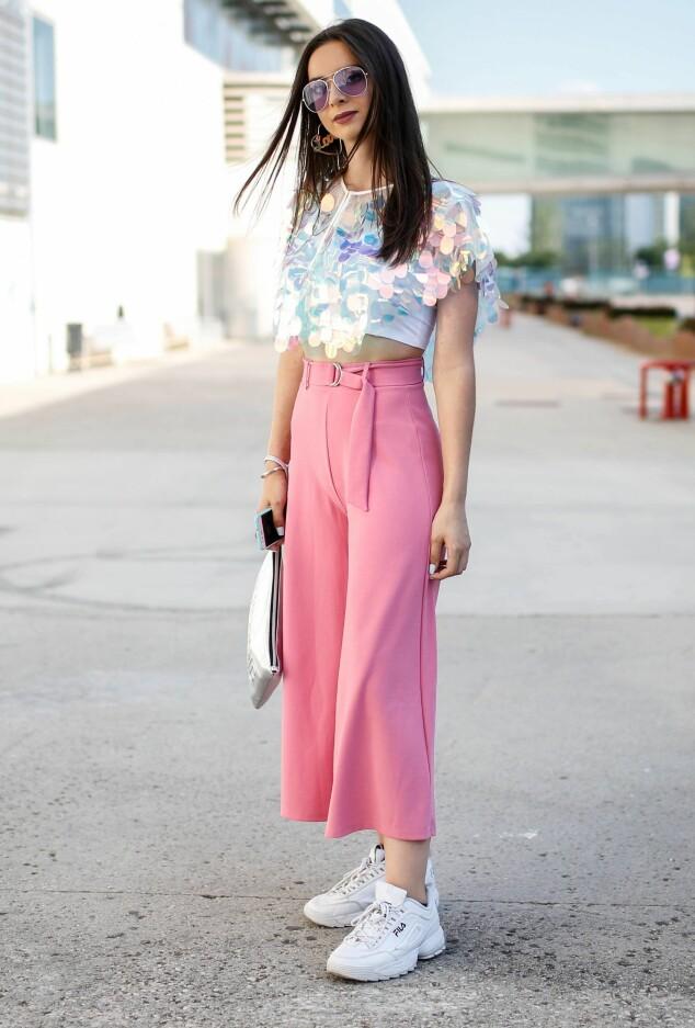 Streetstyle fra Fashion Week i Madrid. Foto: NTB Scanpix