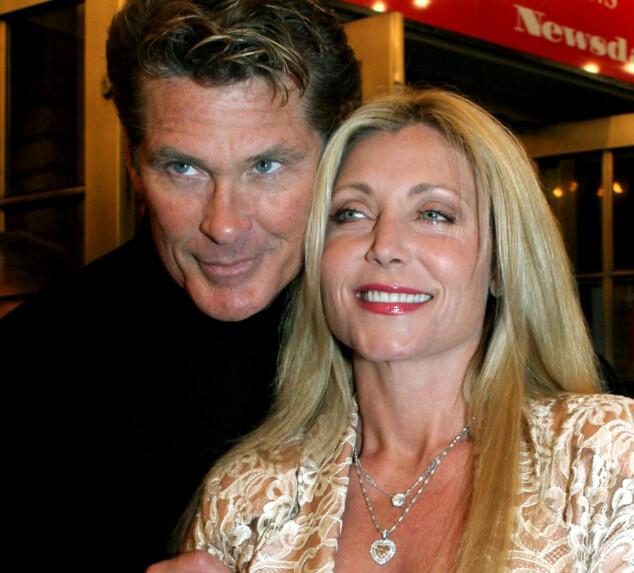 EKS: David Hasselhoff og ekskona, Pamela Bach. Foto: NTB Scanpix