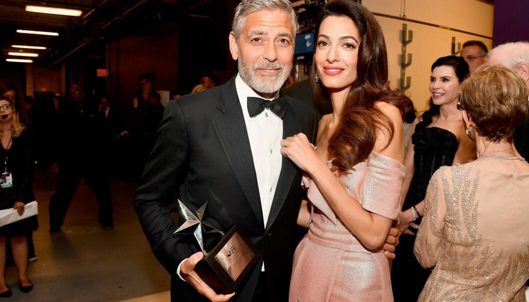 <strong>LYKKELIGE:</strong> George og Amal Clooney møttes for første gang i 2013, og giftet seg året etter. Foto: NTB Scanpix