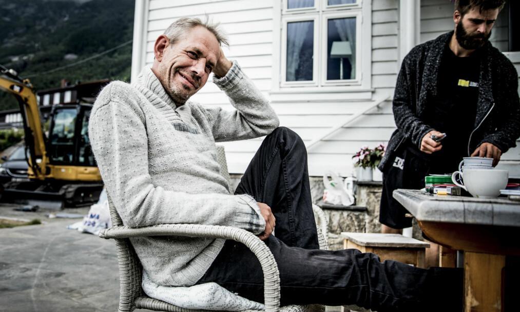 <strong>GLADNYHET:</strong> Leif Einar Lothe (49) har de siste månedene blitt behandlet for strupekreft. Torsdag formiddag var han på sin første kontroll etter å ha avsluttet strålebehandlingen i desember. Foto: Christian Roth Christensen / Dagbladet