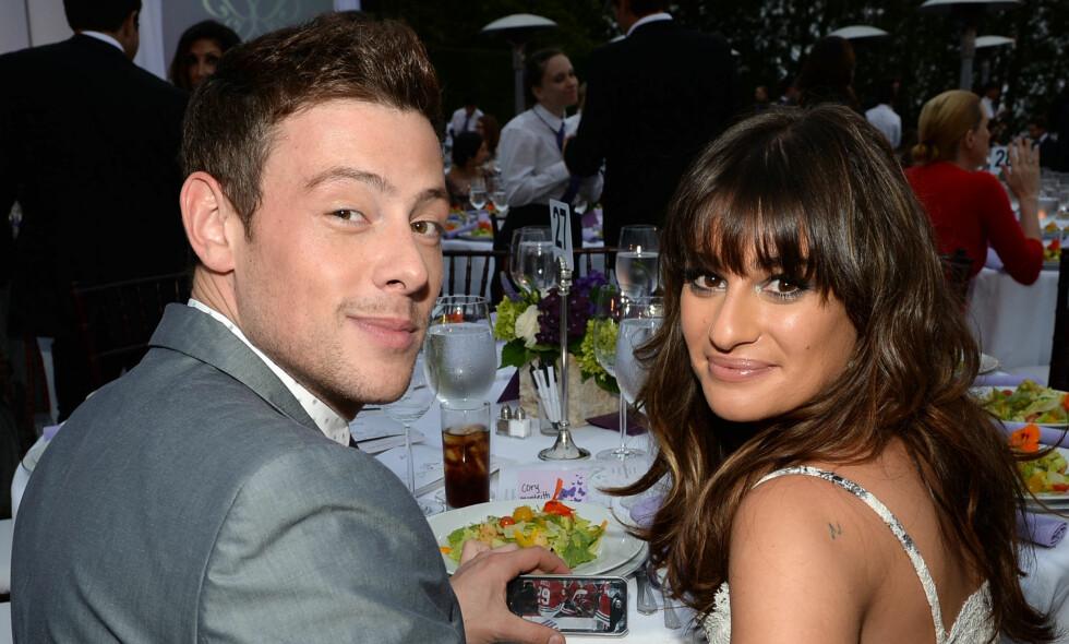 OVERDOSE: Den kanadiske skuespilleren Cory Monteith, kjent fra blant annet «Glee», døde av en overdose for fem år siden. Her er han fotografert med kjæresten Lea Michele, som tok dødsbudskapet svært tungt. Foto: NTB scanpix