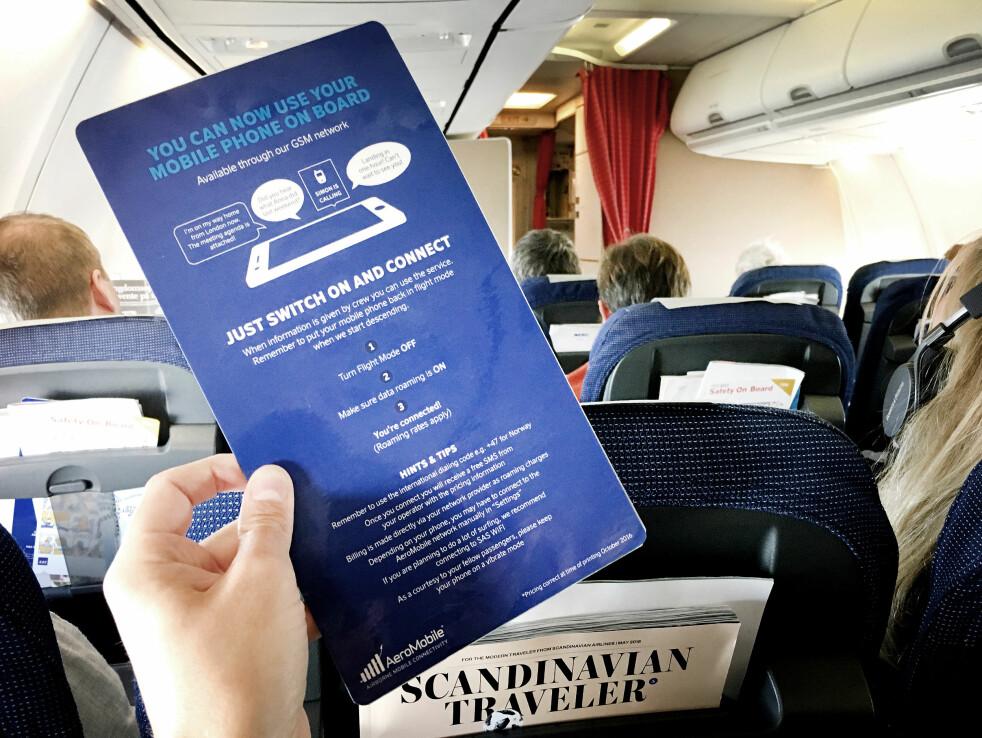 <strong>RÅDYRT:</strong> Å bruke mobilen på fly og båter kan være rådyrt. Men det snakker ikke mobiloperatørene så mye om. Foto: Ole Petter Baugerød Stokke