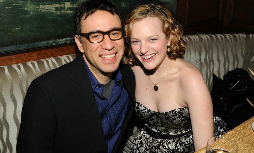 KORT EKTESKAP: I 2009 giftet Elisabeth moss seg med skuespiller Fred Armisen. Knappe året etter tok det slutt. Her er de sammen under en premiere i New York i 2009. Foto: NTB Scanpix