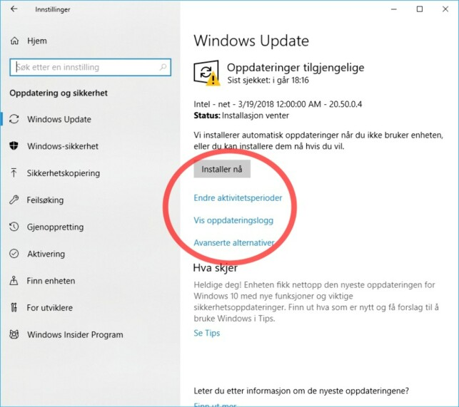 Ta kontroll over oppdateringene i Windows 10