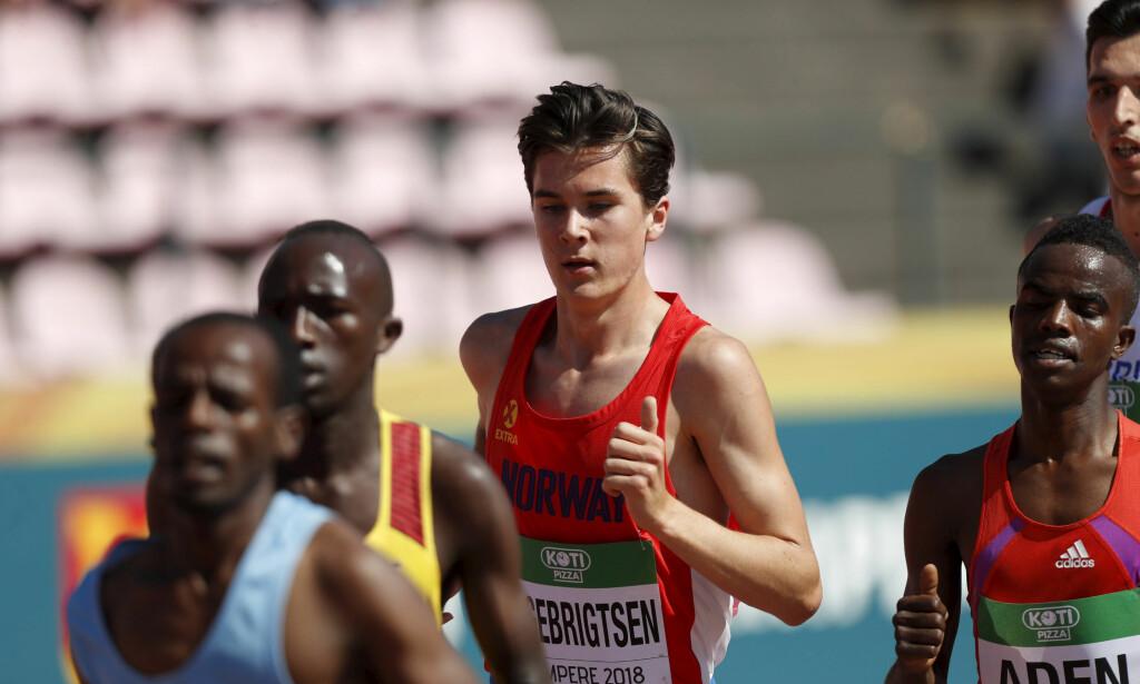 U18-REKORD: Jakob Ingebrigtsen. Foto: Kalle Parkkinen / Lehtikuva / NTB scanpix