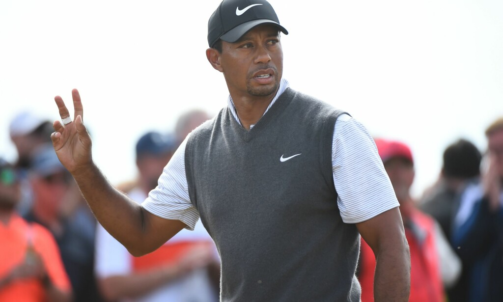 TOPP TI: Tiger Woods storspiller i British Open. Foto: AFP PHOTO / Andy BUCHANAN