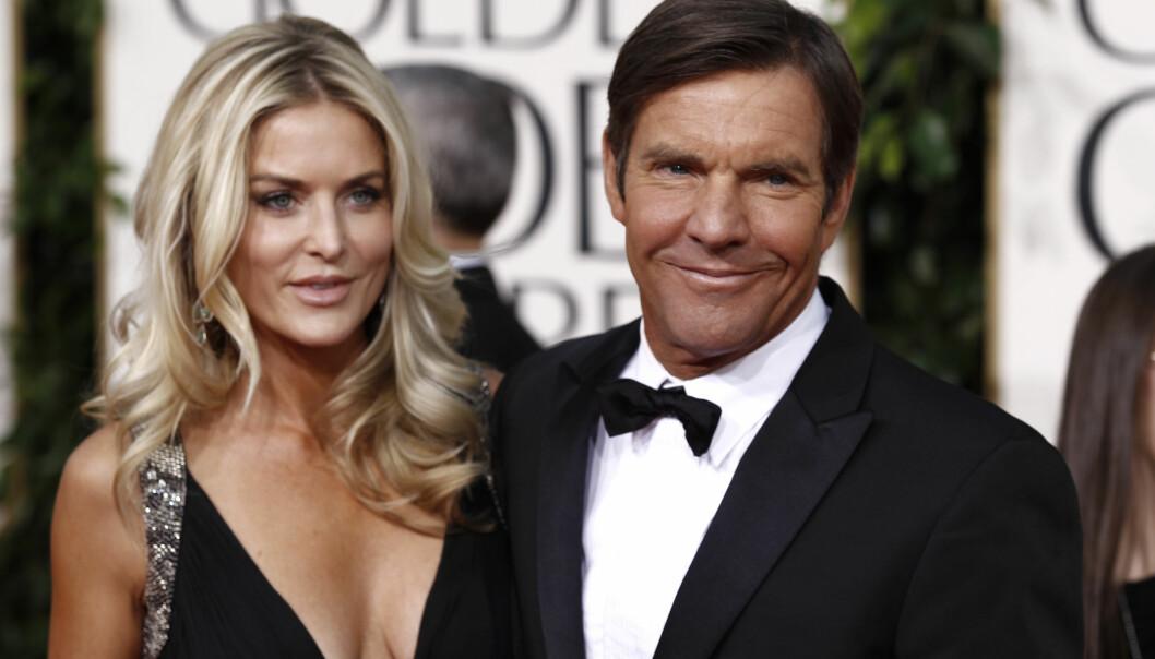 SKILT: Her er Dennis og eks-kona Kimberly sammen på den røde løperen under Golden Globe i 2011. Foto: NTB Scanpix