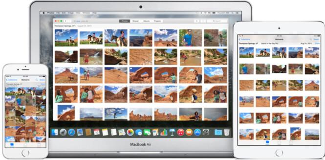 <strong>OVERALT:</strong> Bildene fra telefonen din dukker opp på alle Apple-enhetene dine. Dessverre er det enkelt å slette dem fra alle sammen også. Foto: Apple