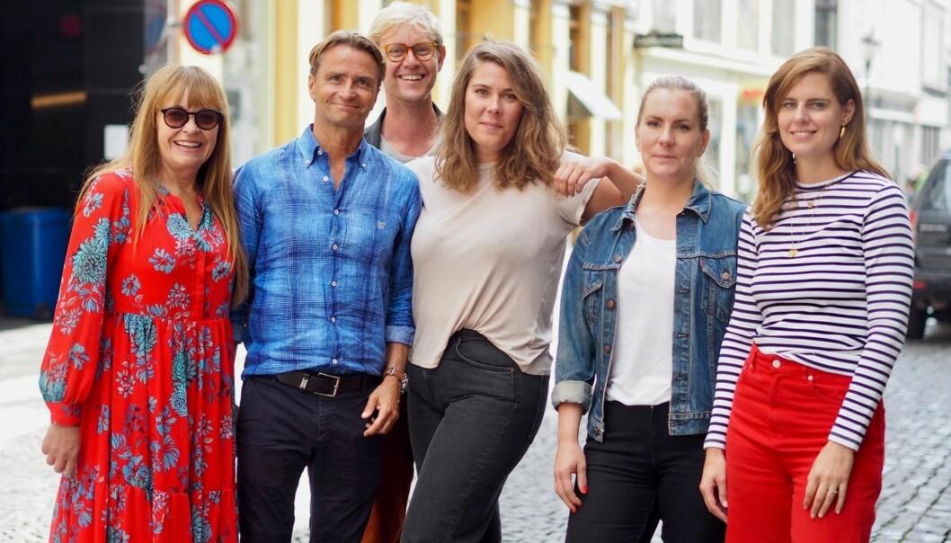 Fra venstre Linda Refvik, Sandro Parmeggiani, Gisle Mardal , Ditte Kristensen, Elin Kathrine Saunes, og Ida Jordet Lamond.
