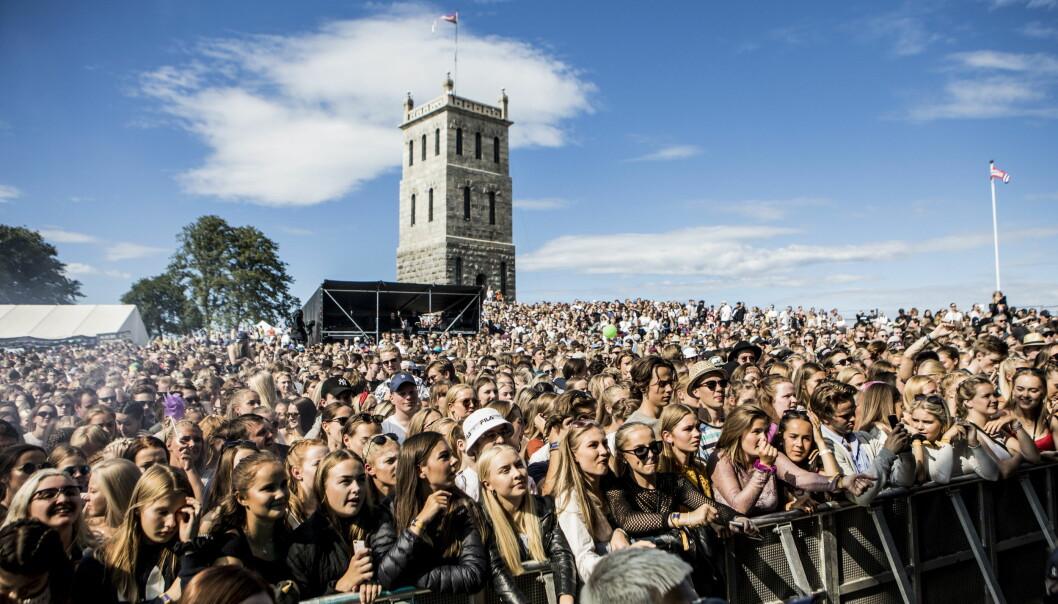 <strong>SLOTTET:</strong> Slottsfjellfestivalen har blitt arrangert på Slottsfjellet i Tønsberg siden 2003. Foto: Christian Roth Christensen / Dagbladet