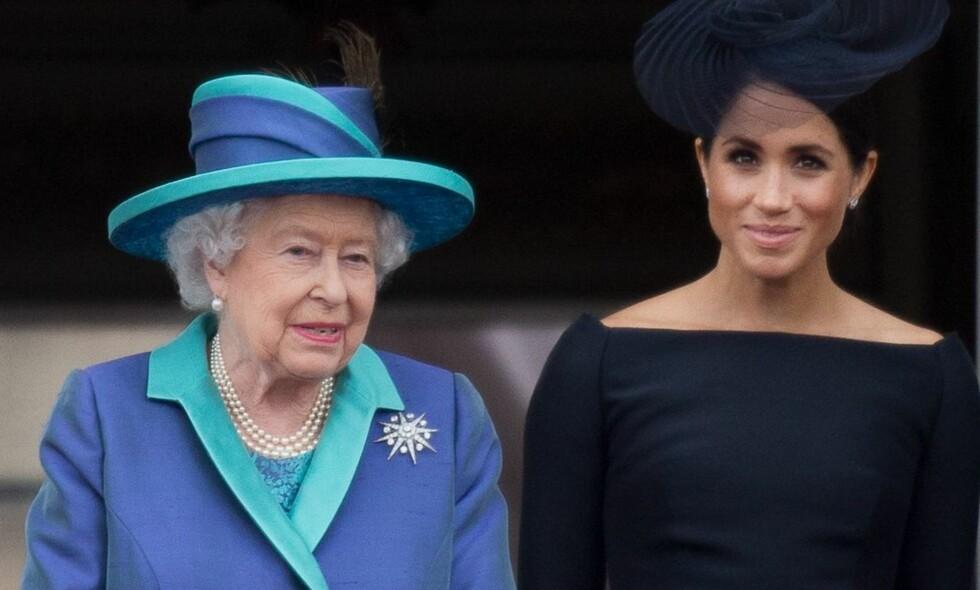 SOVEREGEL: Meghan må følge en noe spesiell regel når hun skal legge seg og dronningen er til stede. Foto: NTB Scanpix
